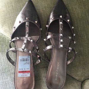 Marc Fisher studded flats